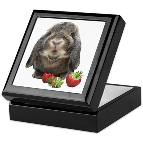Bunny and strawberries Keepsake Box