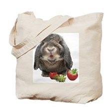 Bunny and strawberries Tote Bag