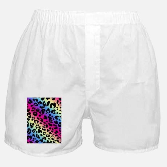 Neon Leopard Print Boxer Shorts