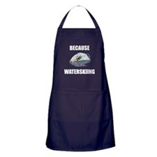 Because Waterskiing Apron (dark)