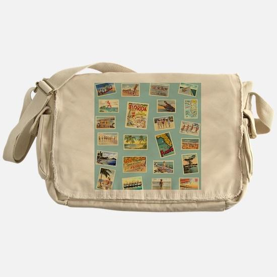 Vintage Florida Postcards Messenger Bag