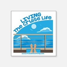 "CruiseLife Square Sticker 3"" x 3"""
