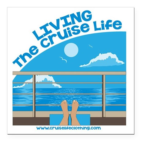 "CruiseLife Square Car Magnet 3"" x 3"""
