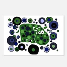 Funky Hippo Art and Circl Postcards (Package of 8)