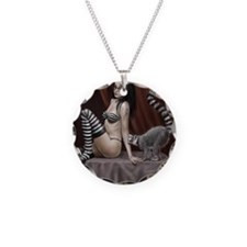 Girl and Lemur mouse Necklace