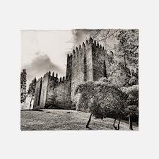 Guimaraes Castle in Portugal Throw Blanket