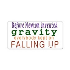 Newton Hadda Brainwave Aluminum License Plate