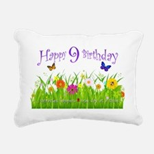butterfly_birthday_card_ Rectangular Canvas Pillow
