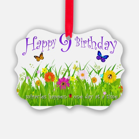 butterfly_birthday_card_9_years Ornament