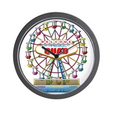 Rave Ferris Wheel Wall Clock