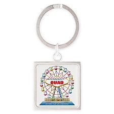 Rave Ferris Wheel Square Keychain