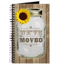 Rustic Change Of Address Mason Jar Sunflow Journal