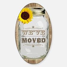Rustic Change Of Address Mason Jar  Decal