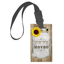 Rustic Change Of Address Mason J Luggage Tag
