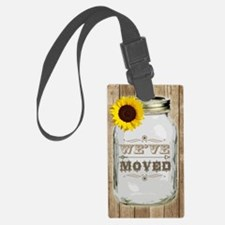 Rustic Change Of Address Mason J Luggage Tag