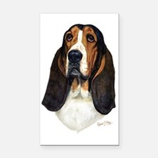 Basset Hound Head a Rectangle Car Magnet