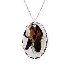 Basset Hound Head b Necklace