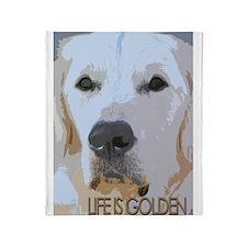Life is Golden Throw Blanket
