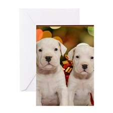 Christmas Dogo Puppies Greeting Card