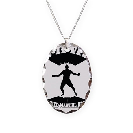 MMA Mixed martial arts Necklace Oval Charm