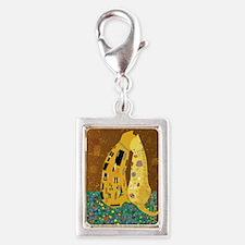 Klimts Kats Silver Portrait Charm