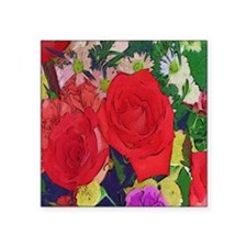 """Painted Rose Garden Square Sticker 3"""" x 3"""""""
