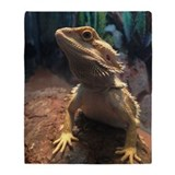 Bearded dragon Fleece Blankets