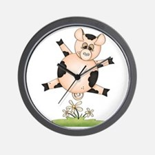Cute When Pink Pigs Fly Wall Clock