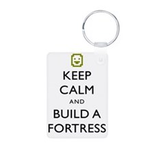 Keep Calm and Build A Fort Keychains