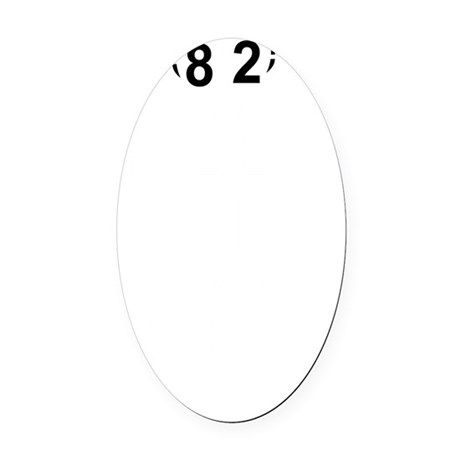 82nd birthday designs Oval Car Magnet