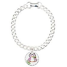 Wise Old Colorful Owl On Bracelet