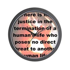 THERE IS NO JUSTICE  IN THE TERMINATION Wall Clock