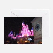 Pink Castle at night Greeting Card