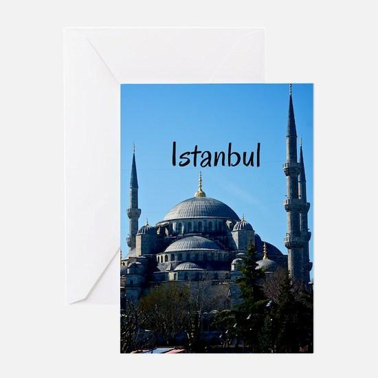 Istanbul_5X7_Card_BlueMosque Greeting Card