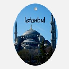 Istanbul_5X7_Card_BlueMosque Oval Ornament