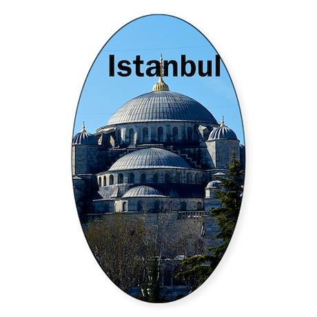 Istanbul_2.337 x 4.9_iPhone5Case_Bl Sticker (Oval)