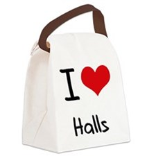 I Love Halls Canvas Lunch Bag