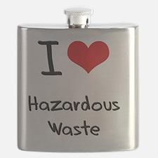I Love Hazardous Waste Flask