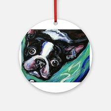 Boston Terrier eyes Ornament (Round)