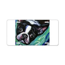 Boston Terrier eyes Aluminum License Plate