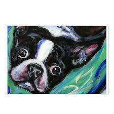 Boston Terrier eyes Postcards (Package of 8)