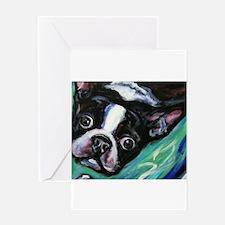 Boston Terrier eyes Greeting Cards