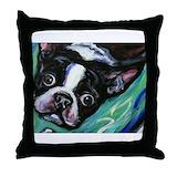 Boston terrier Cotton Pillows