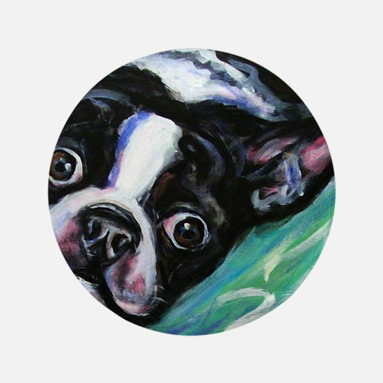 "Boston Terrier eyes 3.5"" Button"
