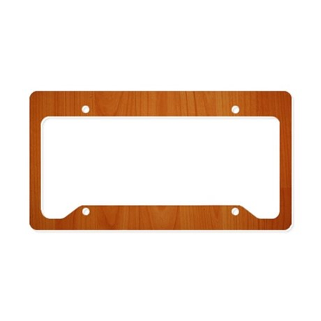 Cherry Wood Grain License Plate Holder By Admin Cp8129970