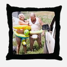 shower curtain eg Throw Pillow