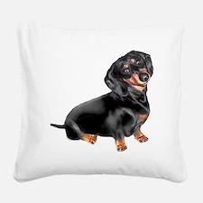 Dachshund-BT - Big2 Square Canvas Pillow