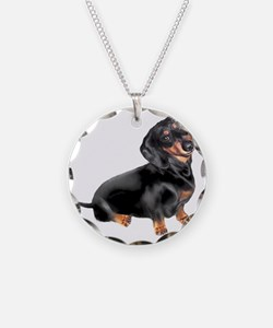 Black-Tan Dachshund  Necklace