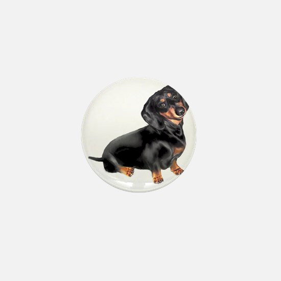 Black-Tan Dachshund  Mini Button