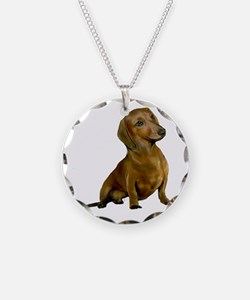 Brown / Red Dachshund Necklace